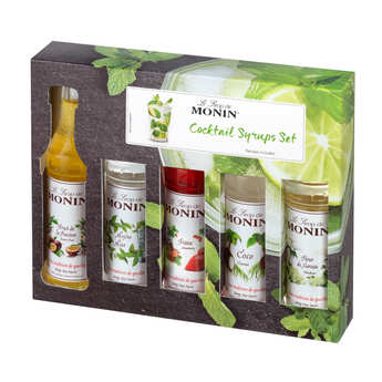 Monin - Coffret cocktails - 5 sirops mignonnettes - Monin