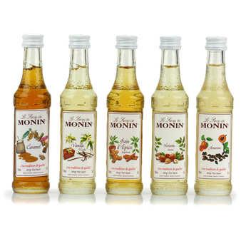 Monin - Coffret café - 5 sirops mignonnettes - Monin