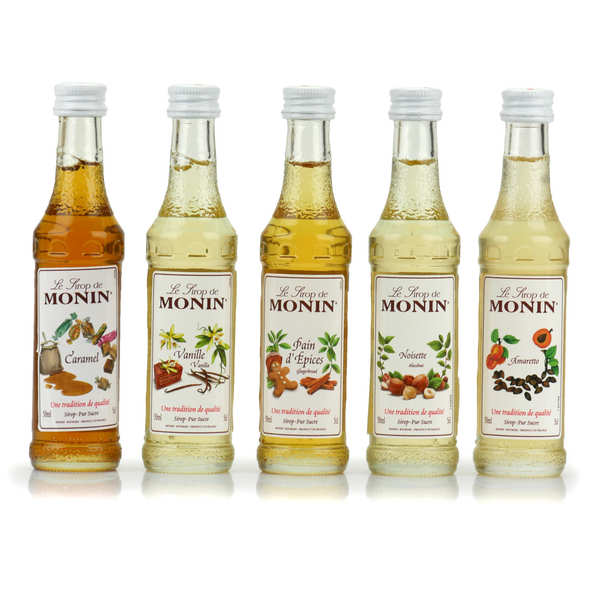 Set of 5 Coffee Syrups by Monin