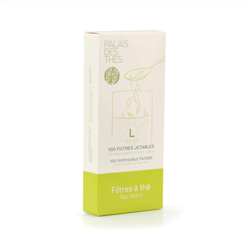100 disposable paper tea filters - L