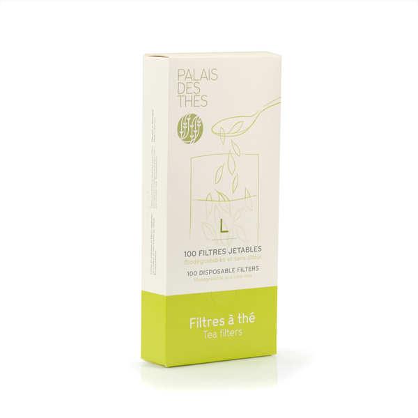 Boîte de 100 filtres à thé jetables - Taille L