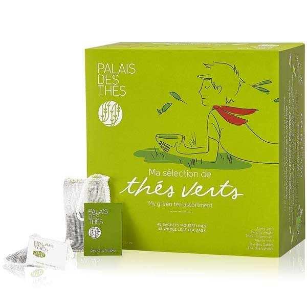 Coffret - Ma sélection de thés verts - 48 mousselines