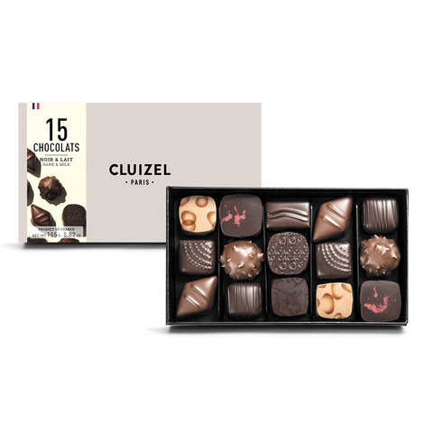 Michel Cluizel - Box of 15 Dark & Milk Chocolates by Michel Cluizel
