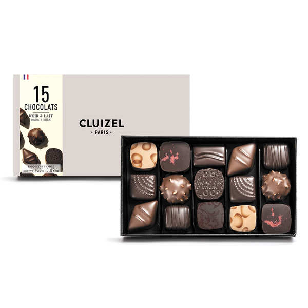 Box of 15 Dark & Milk Chocolates by Michel Cluizel