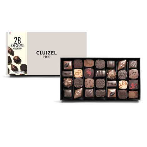Michel Cluizel - Box of 28 Dark & Milk Chocolates by Michel Cluizel