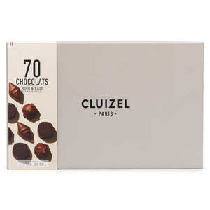 Michel Cluizel - Coffret 70 chocolats noirs et laits Michel Cluizel