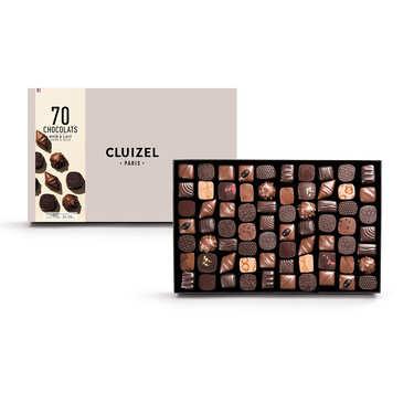 Coffret 70 chocolats noirs et laits Michel Cluizel