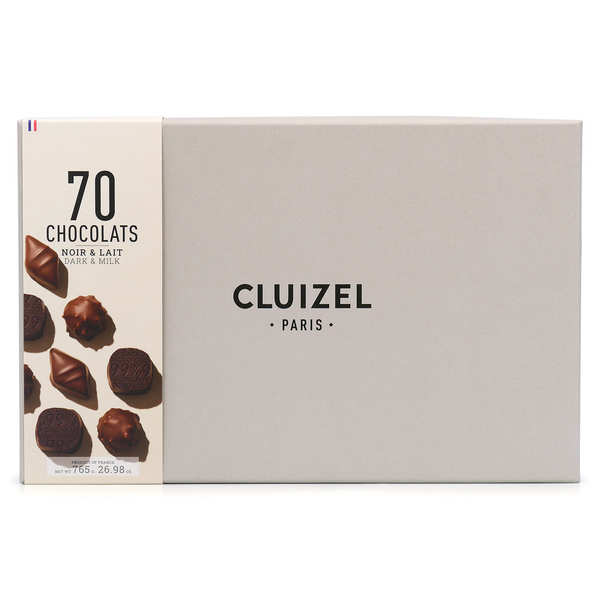 Box of 70 Dark & Milk Chocolates by Michel Cluizel