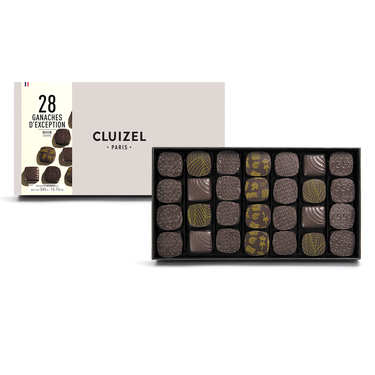Coffret 28 ganaches chocolat noir de plantation Michel Cluizel