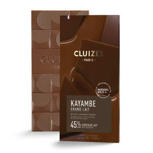 Michel Cluizel - Tablette chocolat au lait -grand lait - 45%