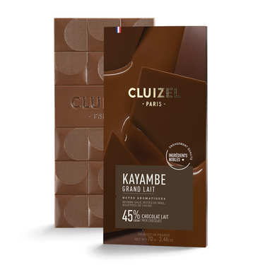 Tablette chocolat au lait -grand lait - 45%