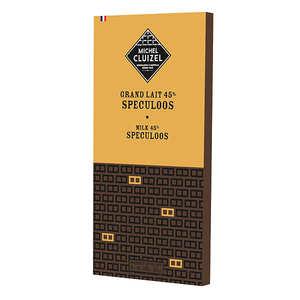 Michel Cluizel - Milk chocolate 'Grand Lait' bar with Spéculoos by Michel Cluizel