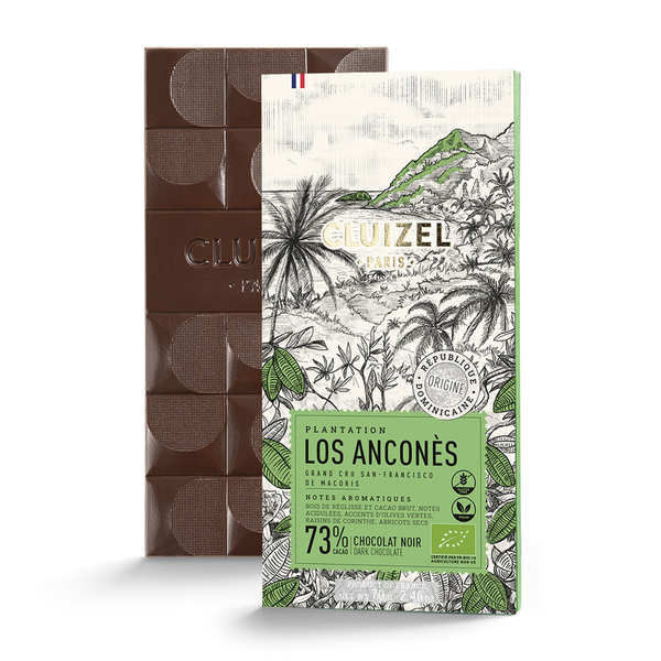 Tablette de chocolat noir 1er cru Los Anconès 67% bio