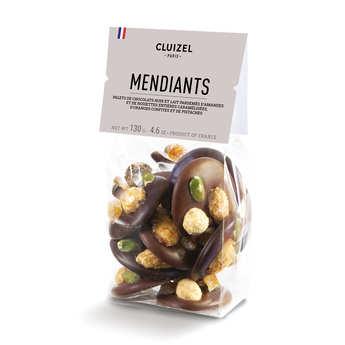 Michel Cluizel - Mendiants chocolats noirs et laits Michel Cluizel
