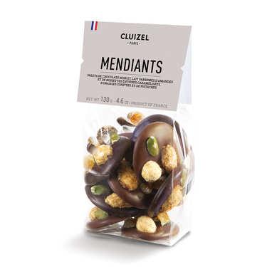 Mendiants chocolats noirs et laits Michel Cluizel