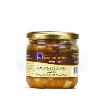 Marmiton de canard confit sauce pruneaux et armagnac