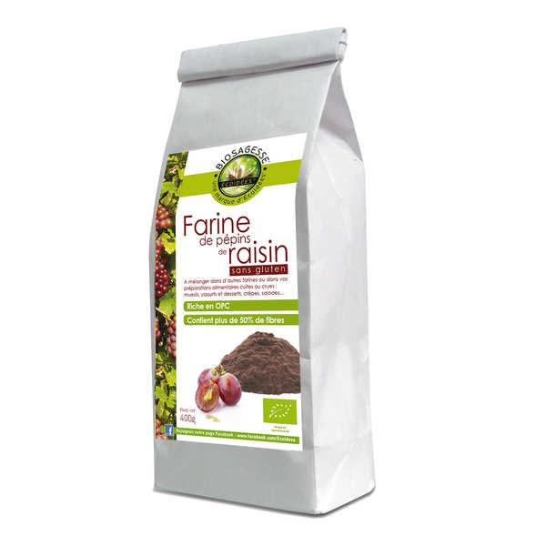 Farine de pépins de raisin bio sans gluten