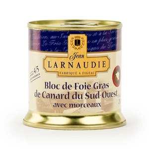 Jean Larnaudie - Bloc de foie gras de canard du Sud-Ouest avec 30% de morceaux (IGP)
