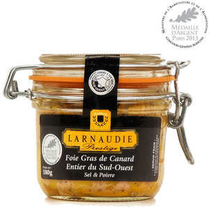 Jean Larnaudie - Whole Duck Foie Gras salt and pepper from South-West France