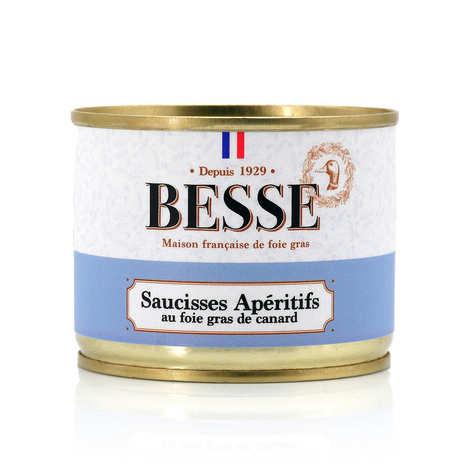Foie gras GA BESSE - Saucisses apéritif au foie gras