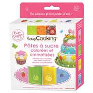 ScrapCooking ® - 4 pâtes à sucre colorées et aromatisées