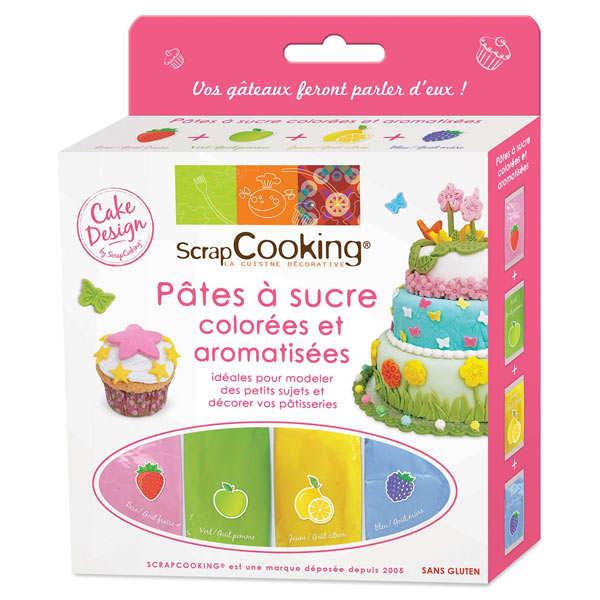 4 ptes sucre colores et aromatises - Pate A Sucre Colore