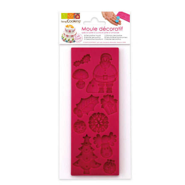Silicone Mould for Christmas Icing Decorations