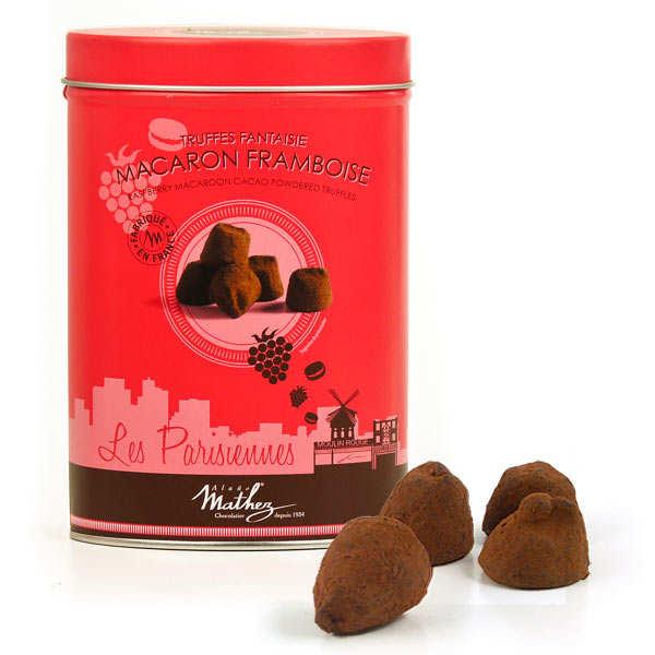Raspberry Macaroon Chocolate Truffles - Chocolat Mathez