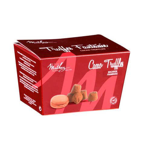 Chocolat Mathez - Truffe fantaisie aux brisures de macaron framboise en ballotin