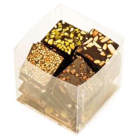 Voisin chocolatier torréfacteur - Le cube de chocolats croque-télé Voisin