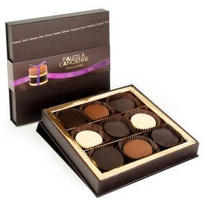 Voisin chocolatier torréfacteur - Coffret de palets chocolat à l'ancienne assortis