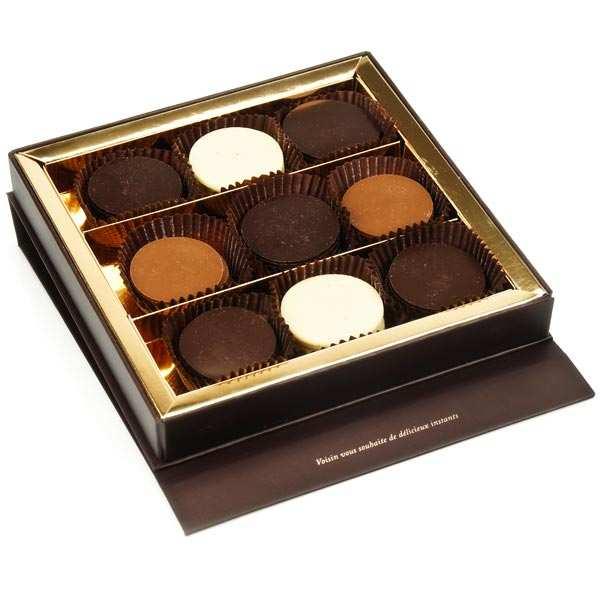 Coffret de palets chocolat à l'ancienne assortis