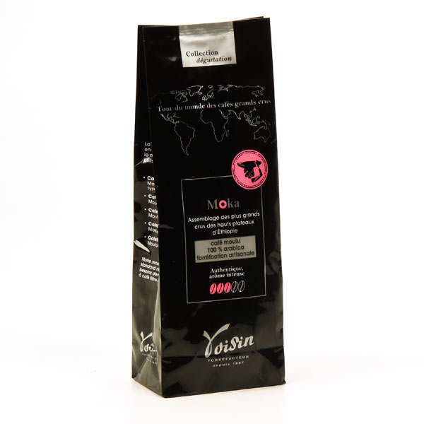 Café moulu Moka 100% Arabica - Force 3/5