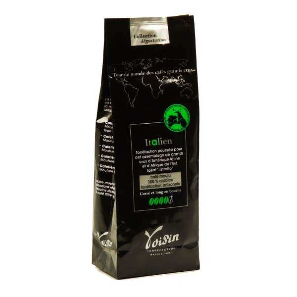 Café moulu - goût italien - 100% Arabica - Force 4/5