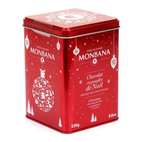 Monbana Chocolatier - Chocolat en poudre aromatisé aux épices de Noël