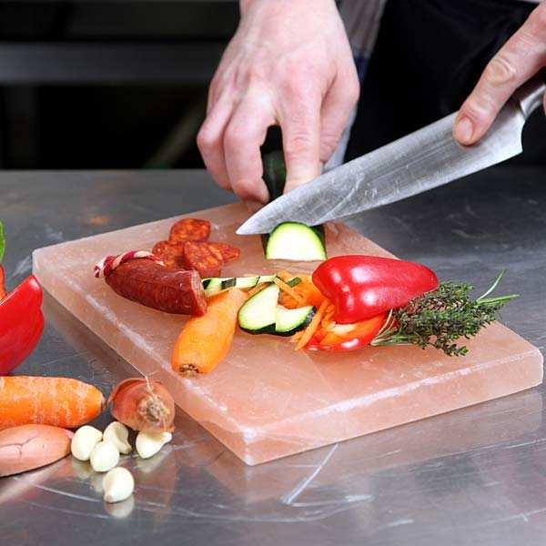 Pierre de sel pour cuisson et présentation
