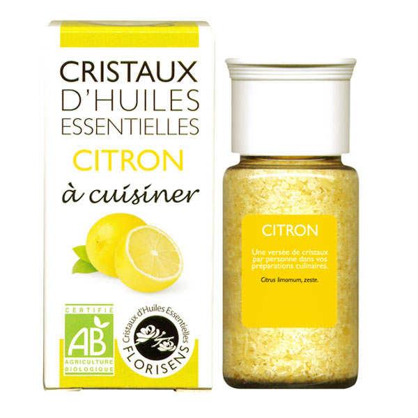 Citron - Cristaux d'huiles essentielles à cuisiner - Bio
