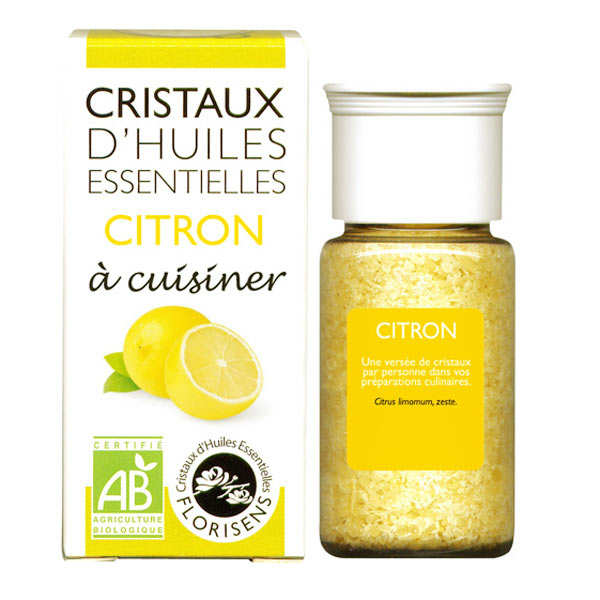 Organic essential oil crystals - Lemon