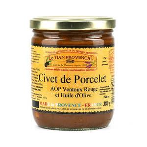Conserverie Rizzo - Civet de Porcelet à l'AOC Côtes du Ventoux