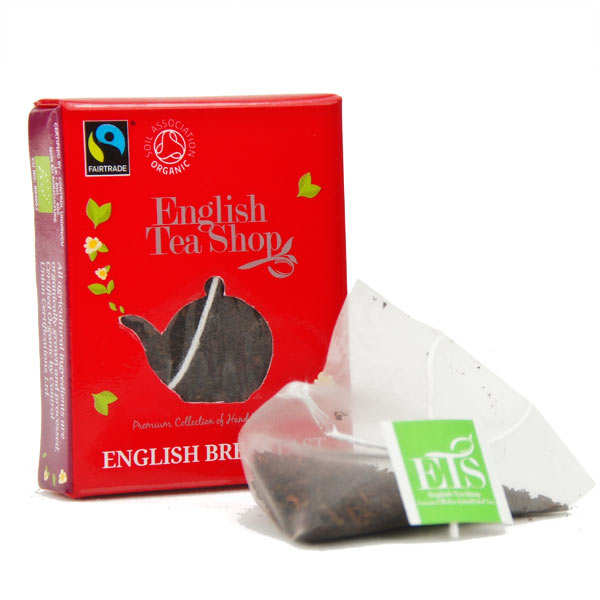 Organic English Breakfast tea - individual sachet