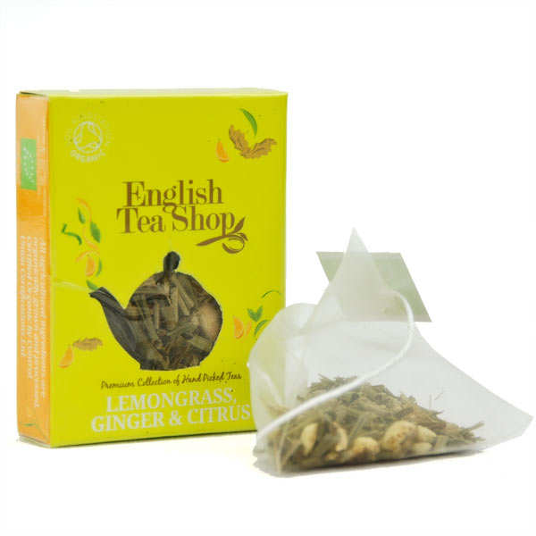 Organic Lemongrass, Ginger & Citrus Tea - individual sachet