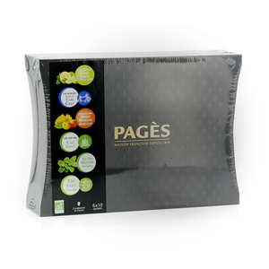 Pagès Thés et infusions - Wooden Case of Organic Teas by Pagès