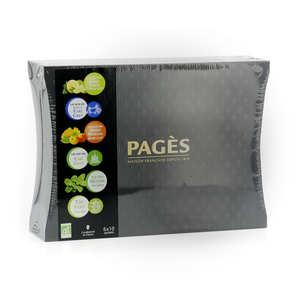 Pagès Thés et infusions - Coffret en bois dégustation de thés biologique
