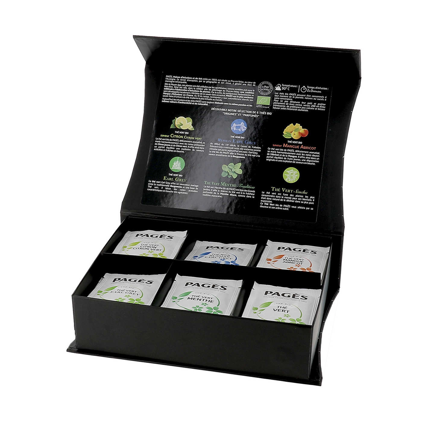 Wooden Case of Organic Teas by Pagès