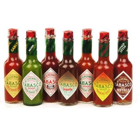 Mc Ilhenny - Tabasco brand - Tabasco McIlhenny co. gift set - 7 varieties in large bottles