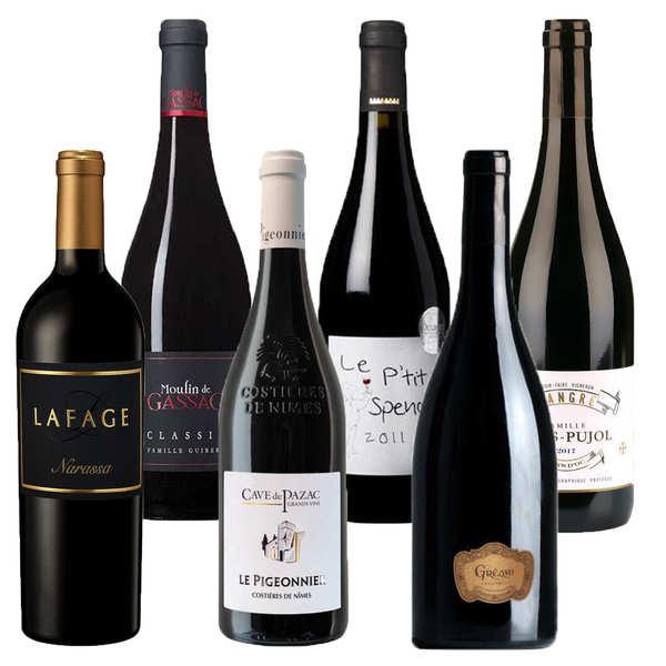 Offre découverte Plaisir - 6 vins rouges du Languedoc-Roussillon
