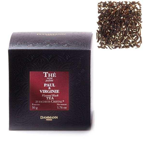 "Paul & Virginie tea blend in ""Cristal"" sachets by Dammann Frères"