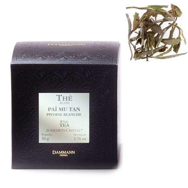 """Pivoine blanche (Paï Mu Tan) tea - """"Cristal"""" sachets - Dammann Frères"""