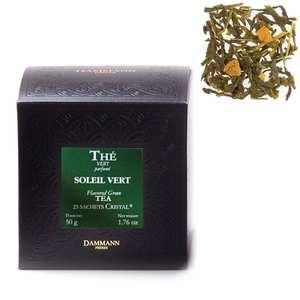 """Dammann frères - Soleil Vert Green Tea in """"Cristal"""" sachets - Dammann Frères"""