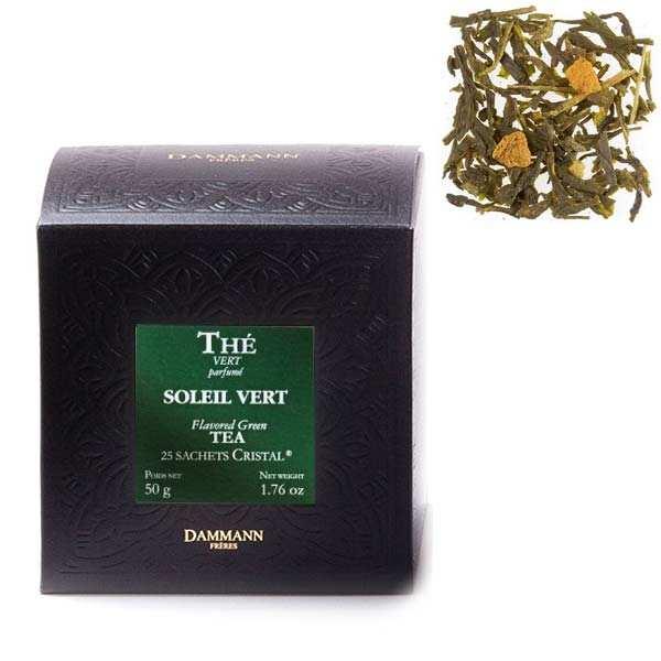"""Soleil Vert Green Tea in """"Cristal"""" sachets - Dammann Frères"""